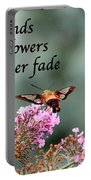 Friends Are Flowers That Never Fade Portable Battery Charger