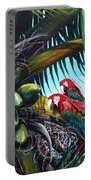 Friends Of A Feather Portable Battery Charger by Karin  Dawn Kelshall- Best