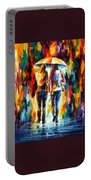 Friends Under The Rain Portable Battery Charger