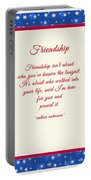Friendship Poem Portable Battery Charger
