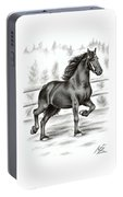 Friesian Horse Portable Battery Charger