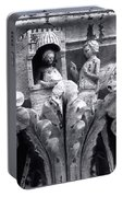 Frieze Work In Black And White  Portable Battery Charger