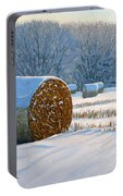 Frigid Morning Bales Portable Battery Charger