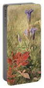 Fringed Gentians Portable Battery Charger