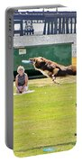 Frisbee Dog Portable Battery Charger by Brian Wallace