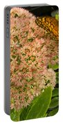 Fritillary On Flower Portable Battery Charger