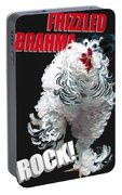 Frizzled Brahma T-shirt Print Portable Battery Charger