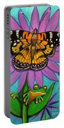 Frog And Butterfly Portable Battery Charger