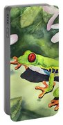 Frog And Plumerias Portable Battery Charger