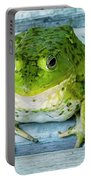 Frog Portrait Portable Battery Charger