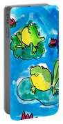 Frogs Portable Battery Charger by Elyse Bobczynski Age Five