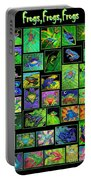 Frogs Poster Portable Battery Charger