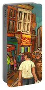 From Schwartz's To Warshaws To The  Main Steakhouse Montreal's Famous Landmarks By Carole Spandau  Portable Battery Charger