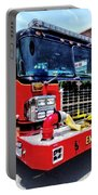 Front Of Fire Truck With Hose Portable Battery Charger