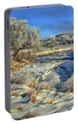 Frost Along The Creek Portable Battery Charger