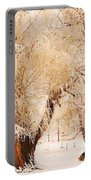 Frosted Golden Trees Portable Battery Charger