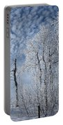 Frosted Hilltop Quakies Portable Battery Charger