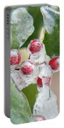 Frosted Holly Portable Battery Charger