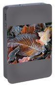 Frosted Painted Leaves Portable Battery Charger