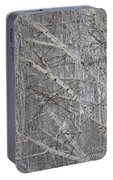 Frosty Birch Tree Portable Battery Charger