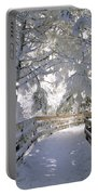 Frosty Boardwalk Portable Battery Charger
