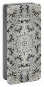 Frosty Lace Doily Portable Battery Charger