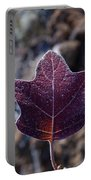 Frosty Lighted Leaf Portable Battery Charger