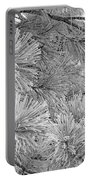 Frosty Pine Tree Portable Battery Charger