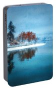 Frosty Reflection Portable Battery Charger