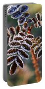 Frosty Rose Leaves Portable Battery Charger