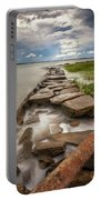 Frozen In Time - Sullivan's Island, Sc Portable Battery Charger