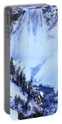 Frozen In Time Yellowstone National Park Portable Battery Charger