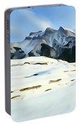 Frozen Mountain Lakeshore Portable Battery Charger
