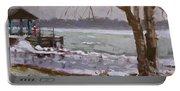 Frozen Niagara River Portable Battery Charger