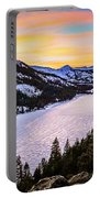 Frozen Reflections At Echo Lake Portable Battery Charger