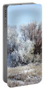 Frozen Trees By The Lake Portable Battery Charger