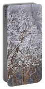 Frozen Trees During Winter Storm Portable Battery Charger