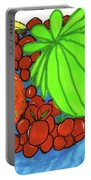 Fruit In A Blue Bowl Portable Battery Charger