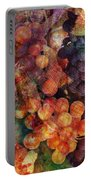 Fruit Of The Vine Portable Battery Charger by Barbara Berney