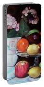 Fruit On Glass Dish II Portable Battery Charger