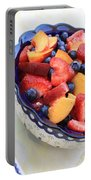 Fruit Salad With Spoon Portable Battery Charger