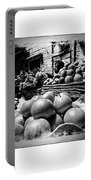 Fruit Seller Blue City Street India Rajasthan Bw 1b Portable Battery Charger