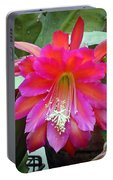 Fuchia Cactus Flower Portable Battery Charger