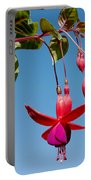 Fuchsia At Pilgrim Place In Claremont-california Portable Battery Charger
