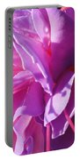 Fuchsia Frills Portable Battery Charger