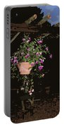 Fuchsia Hanging Basket On Rustic Log Pergola Portable Battery Charger