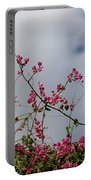 Fuchsia Mexican Coral Vine On White Clouds Portable Battery Charger
