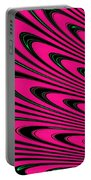 Fuchsia Peacock Feathers Fractal Portable Battery Charger