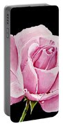 Fuchsia Rose Portable Battery Charger