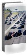 Fujifilm Instax Instant-film Picture Of Ih-35 Rush Hour Traffic  Portable Battery Charger